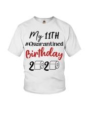 11th Birthday Quarantined 11 Year Old Youth T-Shirt thumbnail