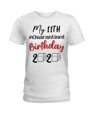 11th Birthday Quarantined 11 Year Old Ladies T-Shirt thumbnail
