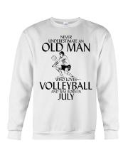 Never Underestimate Old Man Volleyball July Crewneck Sweatshirt thumbnail