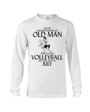 Never Underestimate Old Man Volleyball July Long Sleeve Tee thumbnail