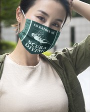 FM00222STORE I'd Rather Be Scuba Diving  3 Layer Face Mask - Single aos-face-mask-3-layers-lifestyle-front-13