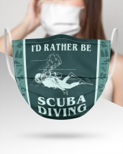 FM00222STORE I'd Rather Be Scuba Diving  3 Layer Face Mask - Single aos-face-mask-3-layers-lifestyle-front-31