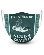 FM00222STORE I'd Rather Be Scuba Diving  3 Layer Face Mask - Single front