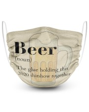 Beer definition 2 Layer Face Mask - Single front