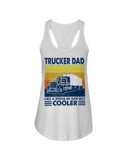 Trucker  Dad Like A Regular Dad But Cooler Ladies Flowy Tank thumbnail