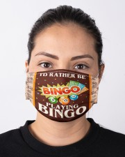 I'd Rather Be Playing Bingo Cloth face mask aos-face-mask-lifestyle-01