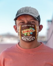 I'd Rather Be Playing Bingo Cloth face mask aos-face-mask-lifestyle-06
