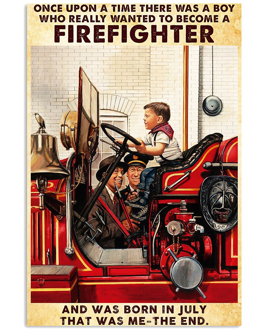 July Firefighter 24x36 Poster