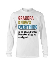 Grandpa Knows Everything Long Sleeve Tee thumbnail