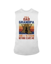 I'm A Dad Grandpa And A Veteran Nothing Scares Me Sleeveless Tee thumbnail