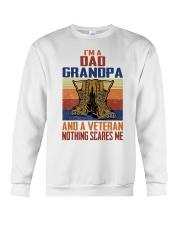 I'm A Dad Grandpa And A Veteran Nothing Scares Me Crewneck Sweatshirt thumbnail