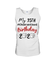 35th Birthday Quarantined 35 Year Old Unisex Tank thumbnail