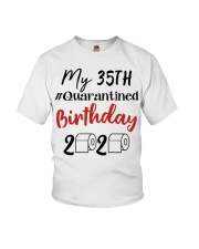 35th Birthday Quarantined 35 Year Old Youth T-Shirt tile