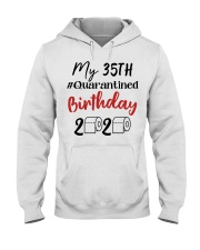 35th Birthday Quarantined 35 Year Old Hooded Sweatshirt tile