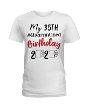35th Birthday Quarantined 35 Year Old Ladies T-Shirt tile