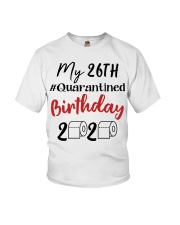 26th Birthday Quarantined 26 Year Old Youth T-Shirt thumbnail