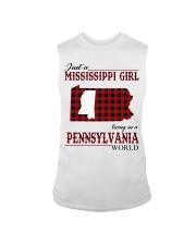 Just A Mississippi Girl In Pennsylvania World Sleeveless Tee thumbnail