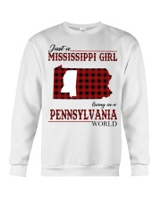 Just A Mississippi Girl In Pennsylvania World Crewneck Sweatshirt thumbnail