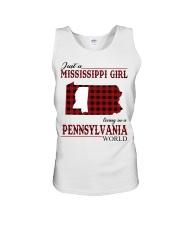 Just A Mississippi Girl In Pennsylvania World Unisex Tank thumbnail
