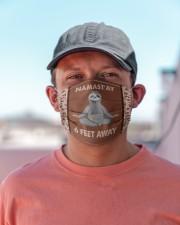 Yoga Namast'ay 6 Feet Away  Cloth face mask aos-face-mask-lifestyle-06