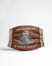 Yoga Namast'ay 6 Feet Away  Cloth face mask aos-face-mask-lifestyle-22