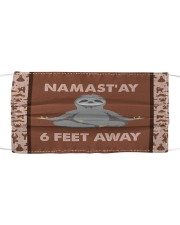 Yoga Namast'ay 6 Feet Away  Cloth face mask front
