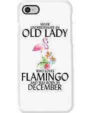 Never Underestimate Old Lady Flamingo December Phone Case thumbnail