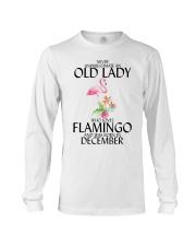Never Underestimate Old Lady Flamingo December Long Sleeve Tee thumbnail
