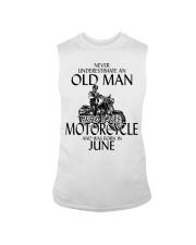 Never Underestimate Old Man Motorcycle June Sleeveless Tee thumbnail
