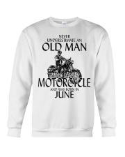Never Underestimate Old Man Motorcycle June Crewneck Sweatshirt thumbnail