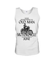 Never Underestimate Old Man Motorcycle June Unisex Tank thumbnail