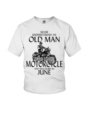 Never Underestimate Old Man Motorcycle June Youth T-Shirt thumbnail