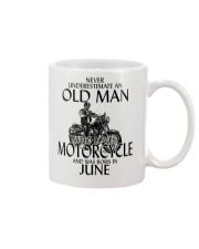 Never Underestimate Old Man Motorcycle June Mug thumbnail