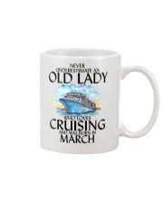 Never Underestimate Old Lady Cruising March Mug thumbnail