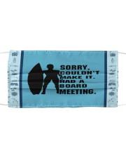 Sorry Couldn't Make It Had A Board Meeting  Cloth face mask thumbnail
