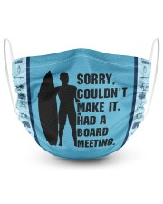 Sorry Couldn't Make It Had A Board Meeting  2 Layer Face Mask - Single front