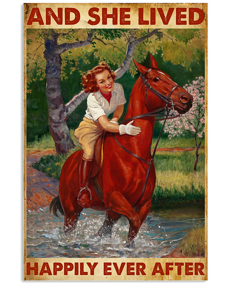 And She Lived Happily Ever After-Horse 24x36 Poster