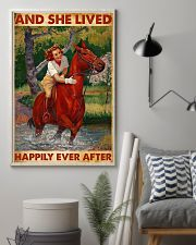 And She Lived Happily Ever After-Horse 24x36 Poster lifestyle-poster-1