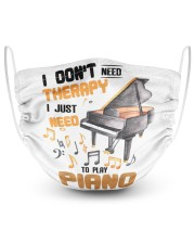 Piano - better than therapy pianist music 2 Layer Face Mask - Single front