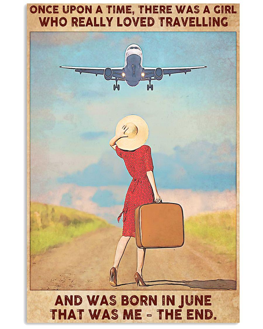 Girl Loves Travelling Born In June 24x36 Poster