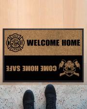 "Firefighter Welcome home Doormat 22.5"" x 15""  aos-doormat-22-5x15-lifestyle-front-10"