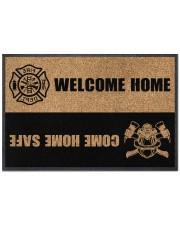 """Firefighter Welcome home Doormat 22.5"""" x 15""""  front"""