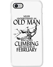Never Underestimate Old Man Climbing  February Phone Case thumbnail