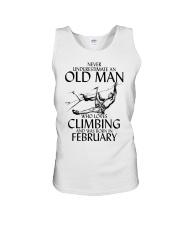 Never Underestimate Old Man Climbing  February Unisex Tank thumbnail
