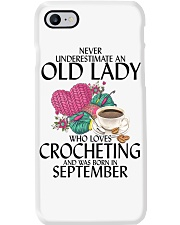 Never Underestimate Old Lady Crocheting September Phone Case thumbnail