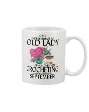 Never Underestimate Old Lady Crocheting September Mug thumbnail