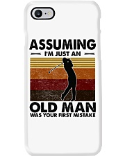 Assuming I'm Just An Old Man Golf Phone Case tile