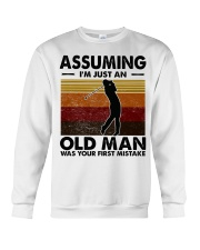 Assuming I'm Just An Old Man Golf Crewneck Sweatshirt tile