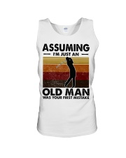 Assuming I'm Just An Old Man Golf Unisex Tank tile