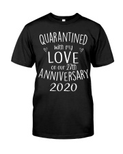 27th Our Anniversary 27 Quarantine Classic T-Shirt front